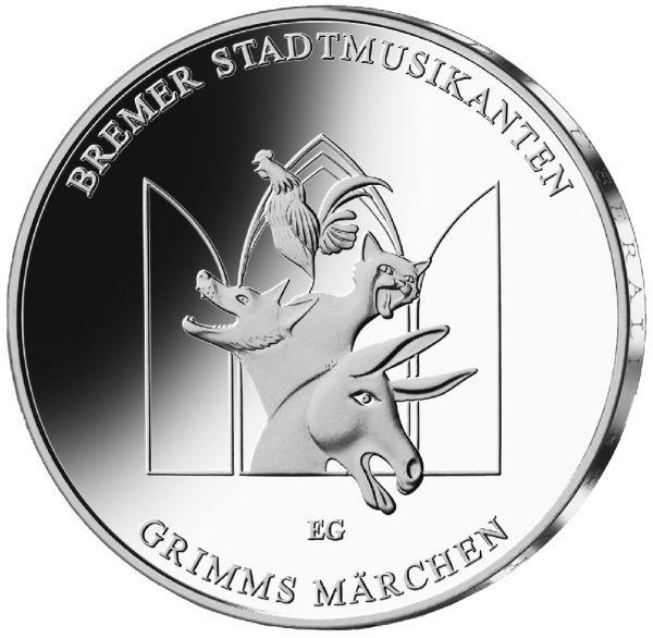 """20 € DE """"Bremer Stadtmusikanten"""" 2017 Silber St -J-"""