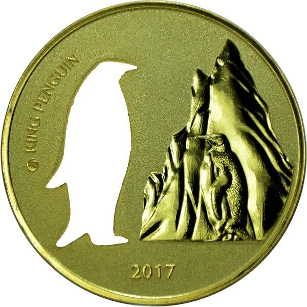"5 Cedis Ghana ""Pinguin Silhouette"" 2017 Ag St"
