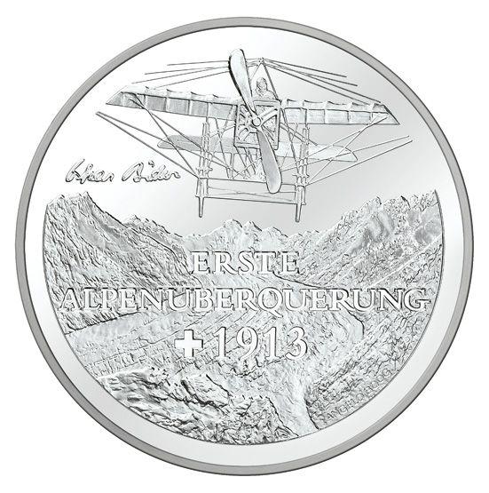 """20 CHF Schweiz """"Erster Alpenüberflug"""" 13 Ag St"""