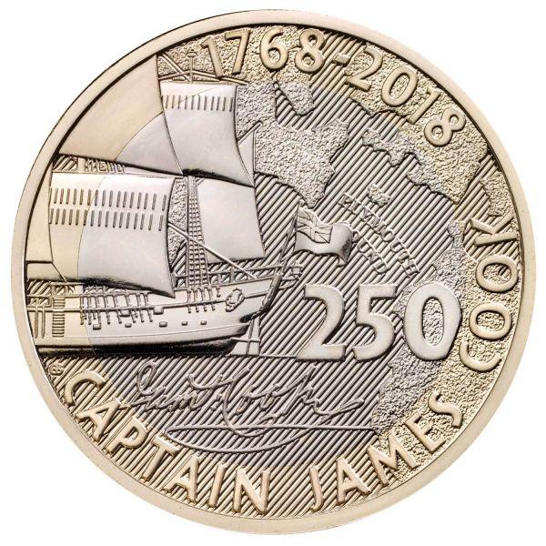 "2 Pfund Großbritannien ""J.Cook - 250 J. Entdeckungsreise"" 18 CN St Blister"
