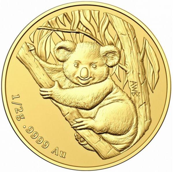 2 Dollar Australien Mini Koala 2021 Gold St