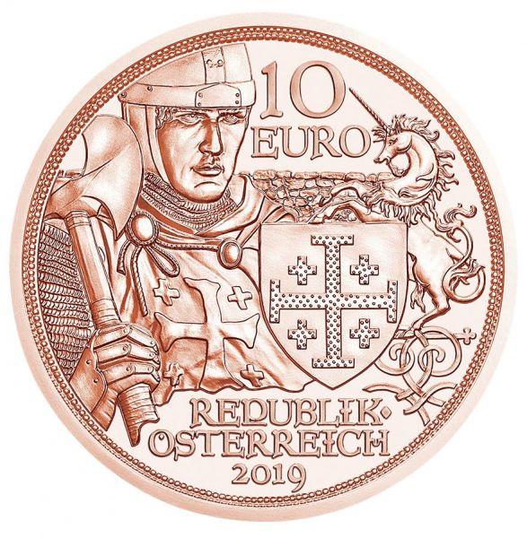 """10 € Österreich """"Abenteuer"""" 2019 Kupfer vz"""