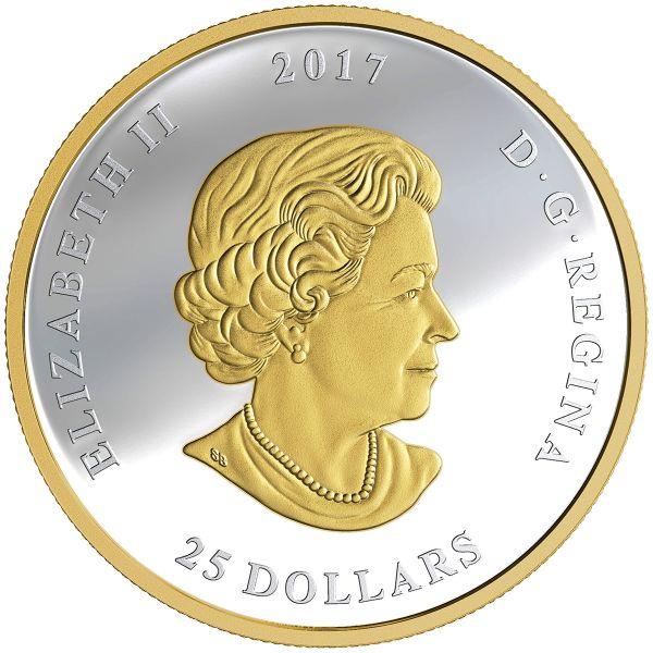 """25 $ Kanada """"Das große Siegel Kanadas"""" 2017 Ag PP"""