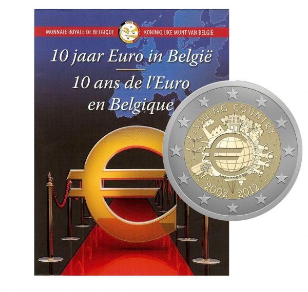 2 € Belgien 10 Jahre Euro 2012 CN St -Blister-