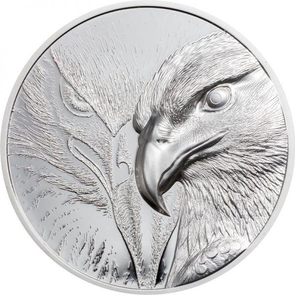 500 Togrog Mongolei Majestic Eagle 2020 Silber PP