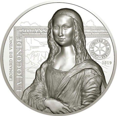 "20 € Frankreich ""Meisterwerke - Mona Lisa"" 2019 Silber PP"