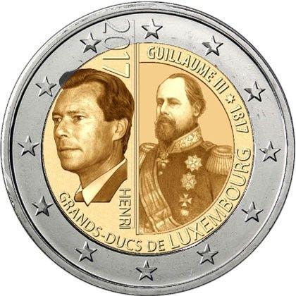 "2 € Luxemburg ""200. Geb. Großherzog Wilhelm III."" 2017 CN bfr"