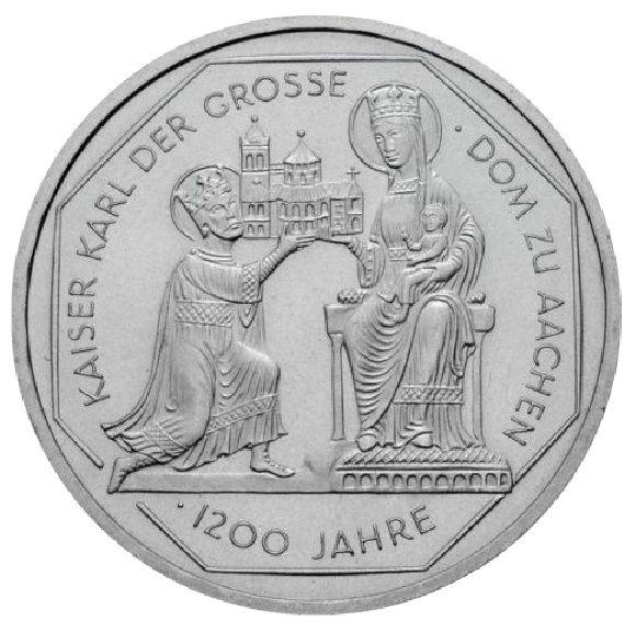 10 DM 1200. Jahrestag Karl der Große 2000 Silber St