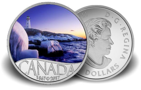 "10 $ Kanada ""Leuchtturm bei Peggy´s Cove"" 2017 PP Ag -farbig-"