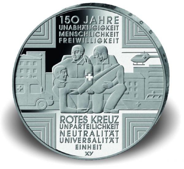 """10 € Deutschland """"150 J. Rotes Kreuz"""" 2013 CN -A- St"""