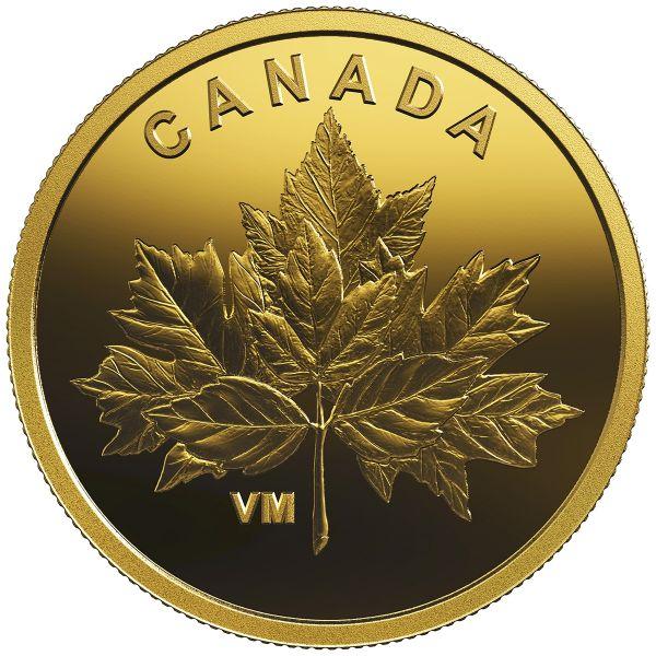 """25 Ct. Kanada """"Maple Leaf Ahornblatt-Bouquet"""" 2019 Gold PP"""