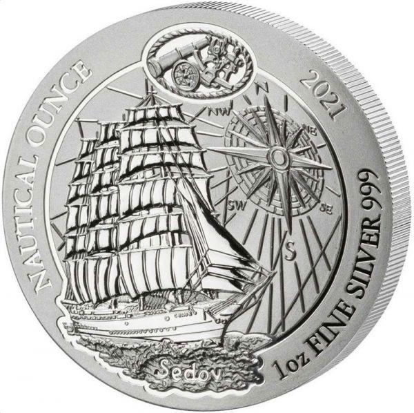 50 RWF Ruanda Sedov 2021 1oz Silber St