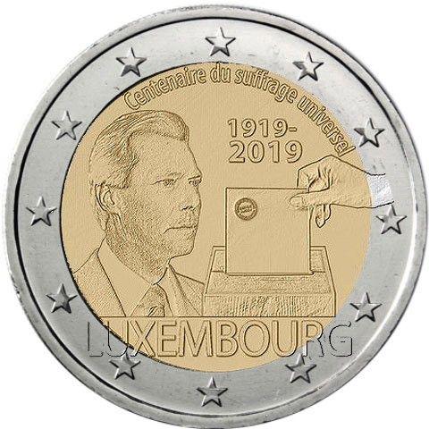 """2 € Luxemburg """"100 J. Allgemeines Wahlrecht"""" 2019 CN bfr"""