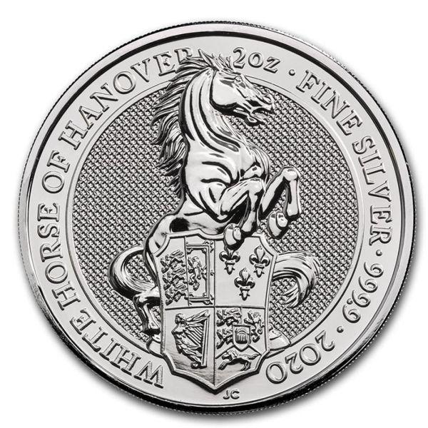5 Pfund Großbritannien The Queen´s Beasts - Weißes Pferd 2020 Silber St