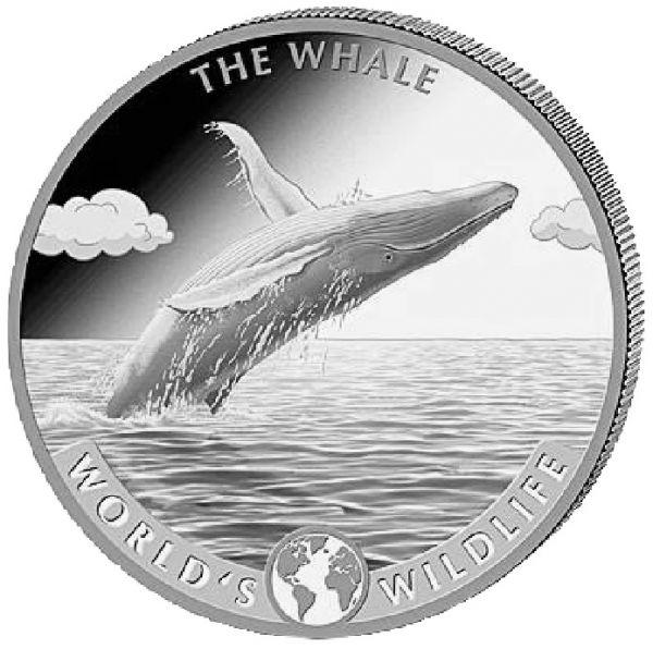 20 CFA Kongo Der Wal 2020 1oz Silber St
