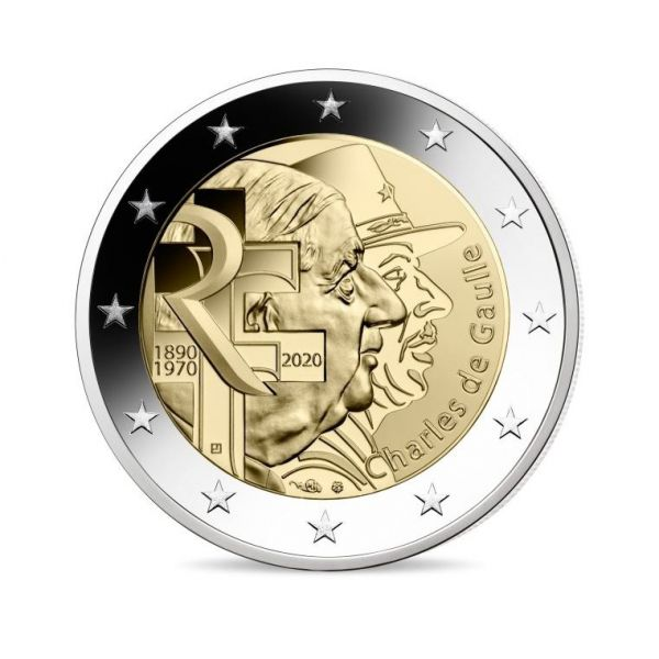 2 Euro Frankreich Charles de Gaulle 2020 CN bfr