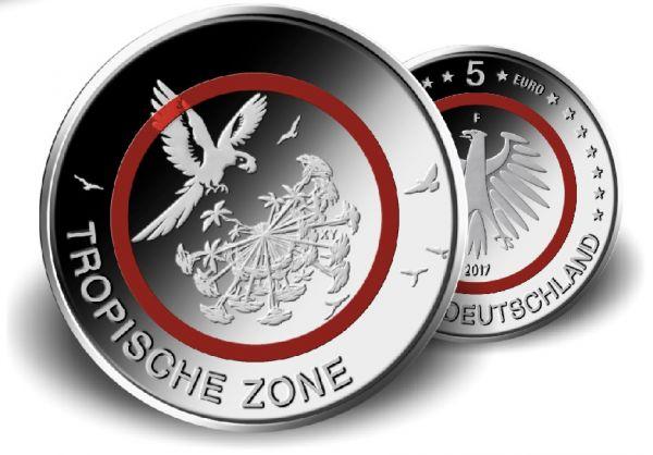 """5 € DE """"Tropische Zone"""" 2017 CN St"""