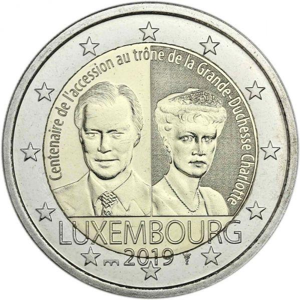 """2 € Luxemburg """"Großherzogin Charlotte"""" 2019 CN bfr"""