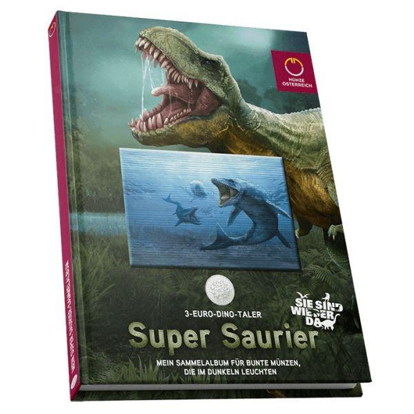 Sammelalbum 3-Euro-Dino-Taler Österreich