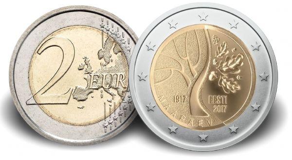 """2 € Estland """"Estlands Weg in die Unabhängigkeit"""" 2017 CuNi bfr"""