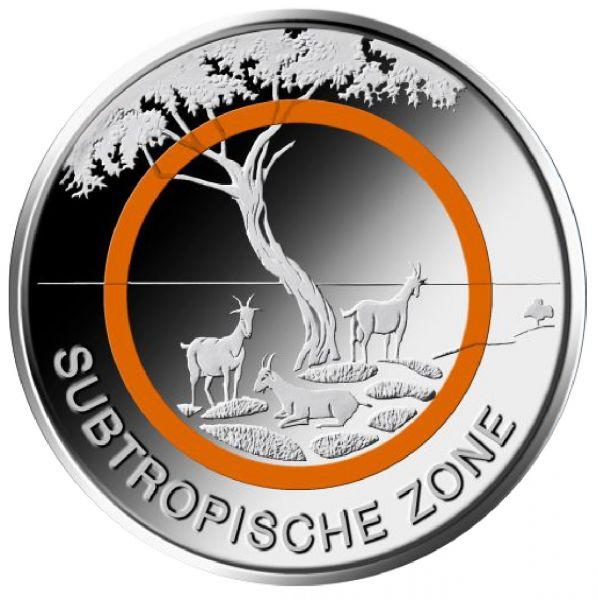 """5 € DE """"Subtropische Zone"""" 2018 CN St"""