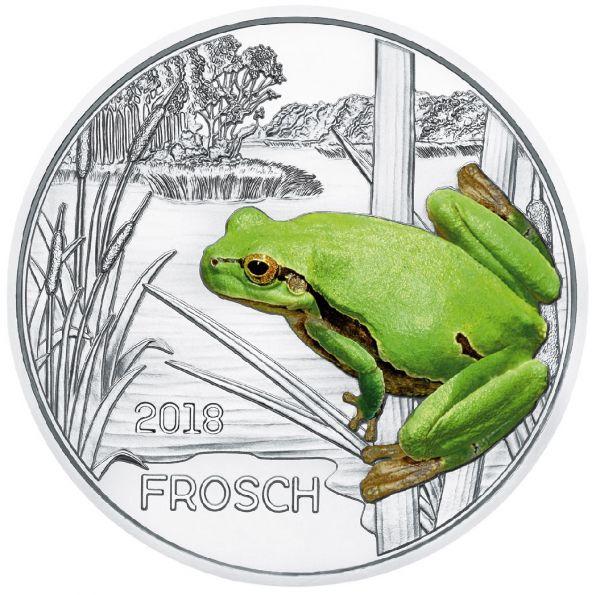 """3 € Österreich """"Tiertaler - Frosch"""" 2018 Buntmetall hgh"""