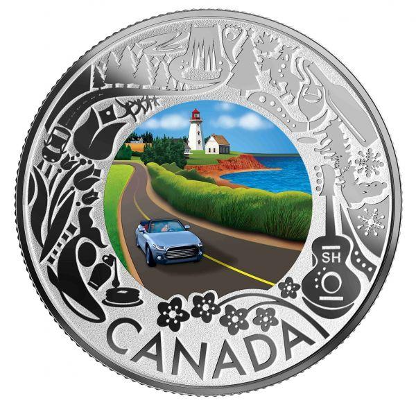 "3 $ Kanada ""Kan. Feste - Küstenfahrt"" 2019 Silber PP"