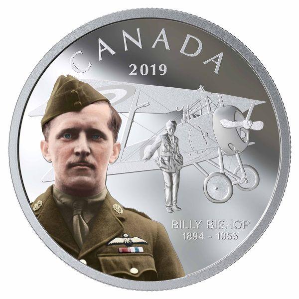 """20 $ Kanada """"125. Geb. von Billy Bishop"""" 2019 Silber PP"""