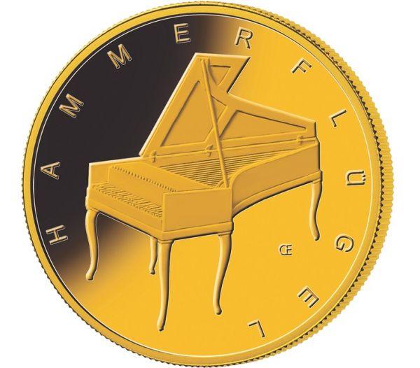 """50 € DE """"Hammerflügel"""" 2019 Gold St 1/4oz -A-"""