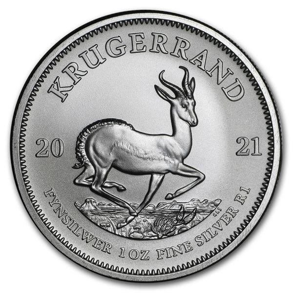 1 Rand Südafrika Krügerrand 1oz 2021 Silber St