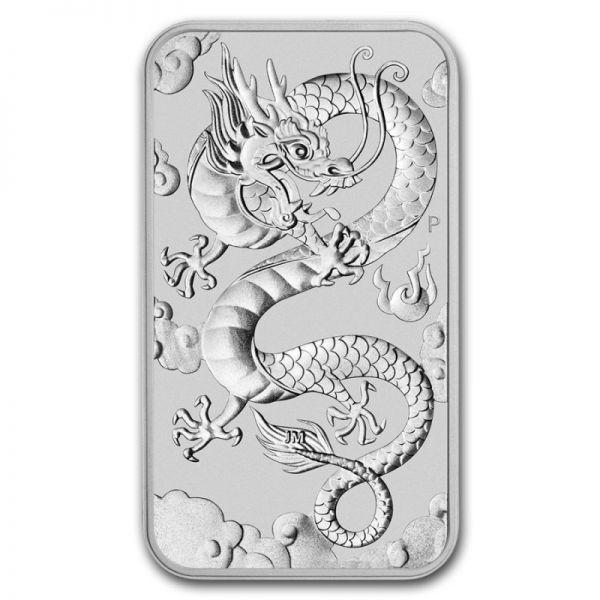 """1 $ Australien """"Chinesischer Drache - Barren"""" 2019 Silber St"""