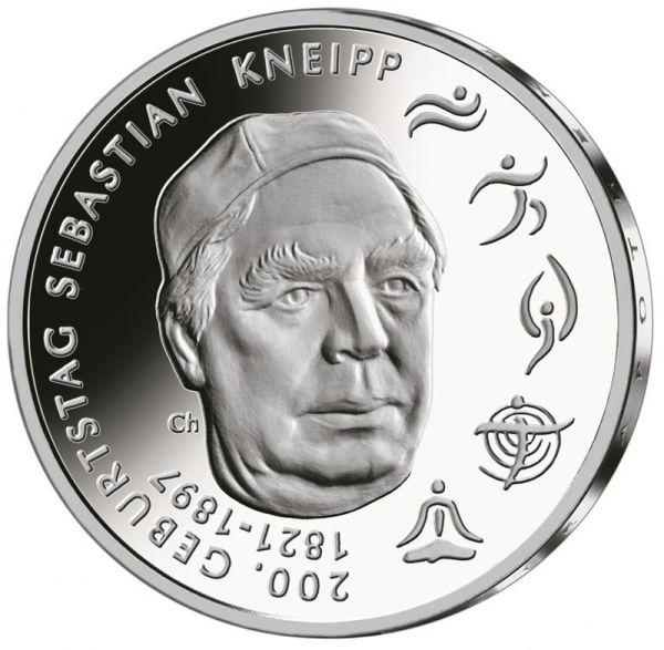 20 Euro DE 200. Geburtstag Sebastian Kneipp 2021 Silber St -G-