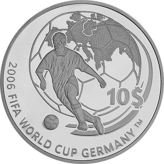 10 Dollar Fidschi Fußball-Weltmeisterschaft 2006 Silber PP