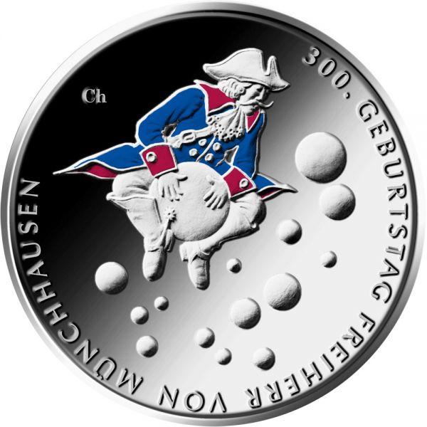 20 Euro DE 300. Geb. Freiherr von Münchhausen 2020 Silber St -A-
