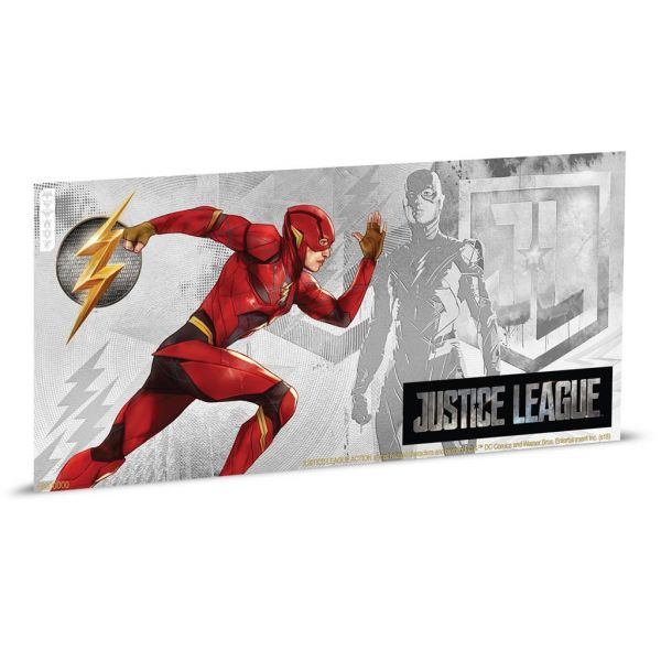 "1 Dollar Niue ""Justice League - The Flash"" Banknote 2018 Ag St"