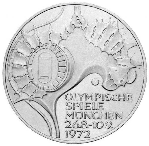 10 DM Olympia Stadion IV 1972 Silber St