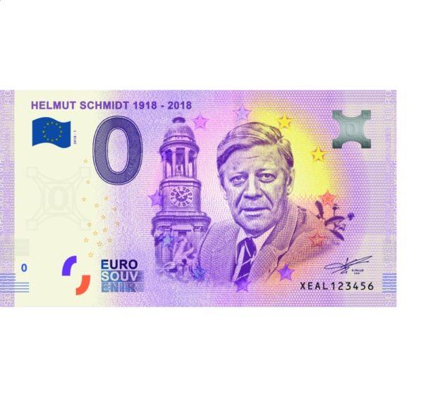 """0 € Deutschland Banknote """"Helmut Schmidt"""" 2018 bfr"""