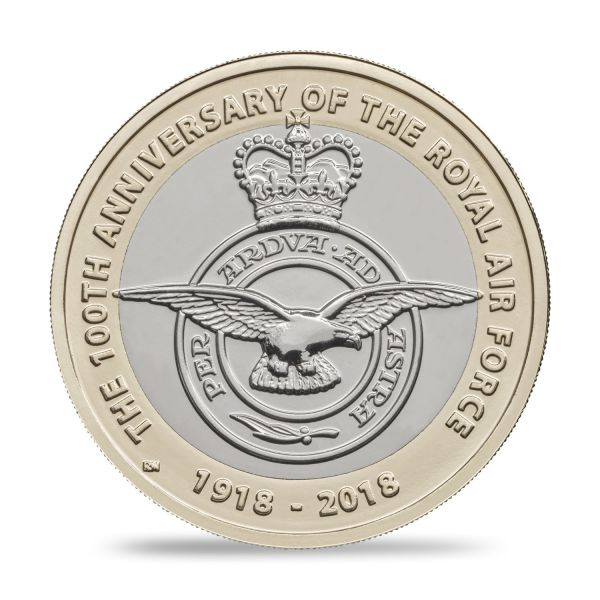 "2 £ Großbrit. ""Royal Air Force - Emblem"" 2018 CN St Blister"