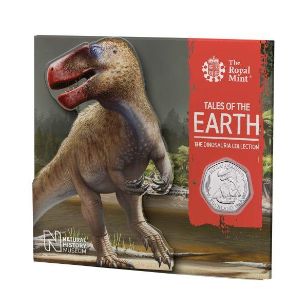 50 Pence Großbritannien Megalosaurus 2020 Cuni St