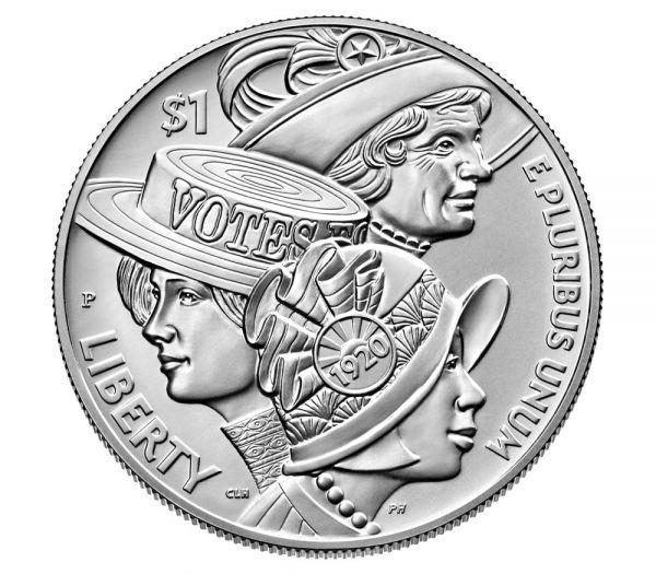 1 Dollar USA Frauenwahlrecht 2020 Silber St