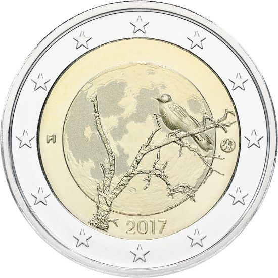 """2 € Finnland """"Finnische Natur"""" 2017 Cn bfr"""