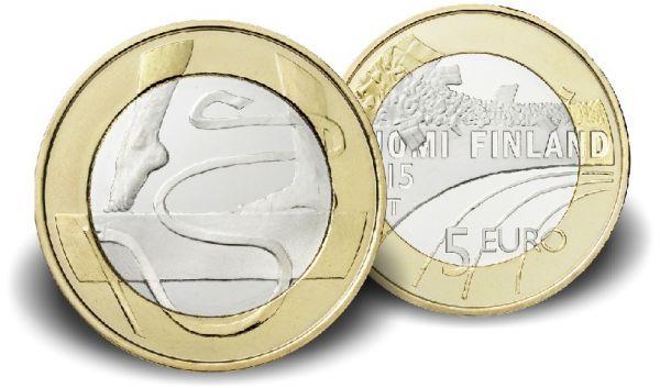 "5 € Finnland Sportserie ""Gymnastik"" 2015 CN St"