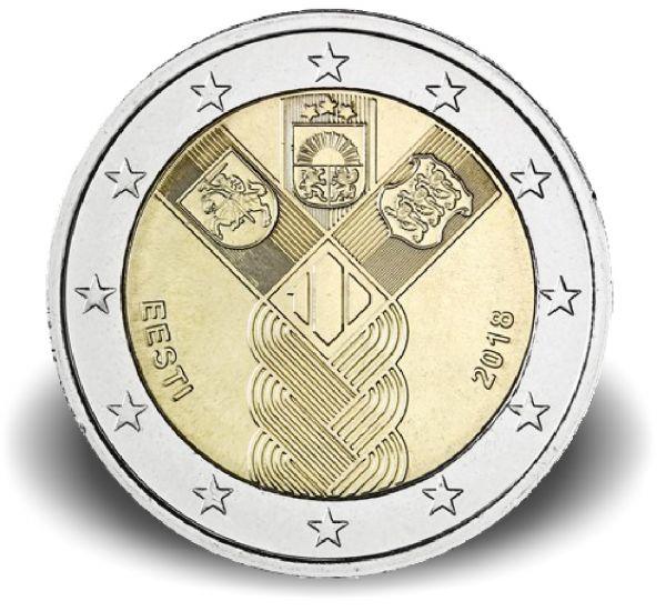 "2 € Estland ""100 J. Unabhängigkeit"" 2018 CuNi bfr"