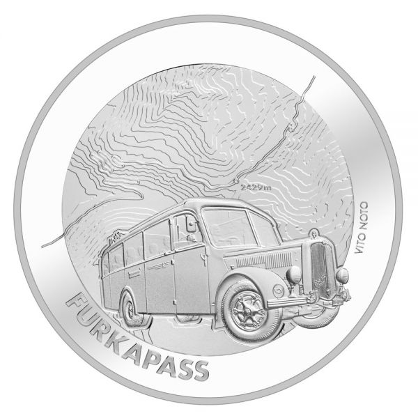 """20 CHF Schweiz """"Furkapass"""" 2019 Silber PP"""