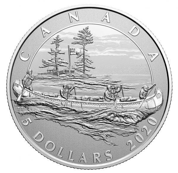 5 Dollar Kanada Hudson´s Bay Company 2020 Silber St