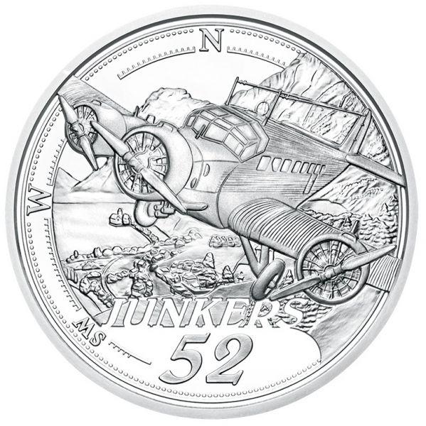 20 Euro Österreich Die Ära des Motorflugs 2019 Silber PP