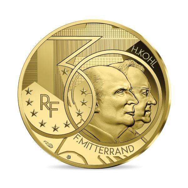 50 Euro Frankreich Mitterrand & Kohl 2020 Gold PP