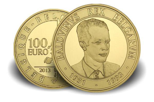 100 € Belgien König Balduin 2013 Au PP