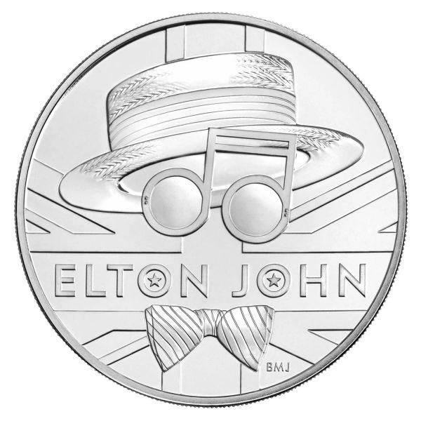5 Pfund Großbritannien Elton John - Musiklegenden 2020 Cuni St