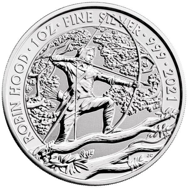 2 Pfund GB Robin Hood - Mythen + Legenden 2021 Silber St